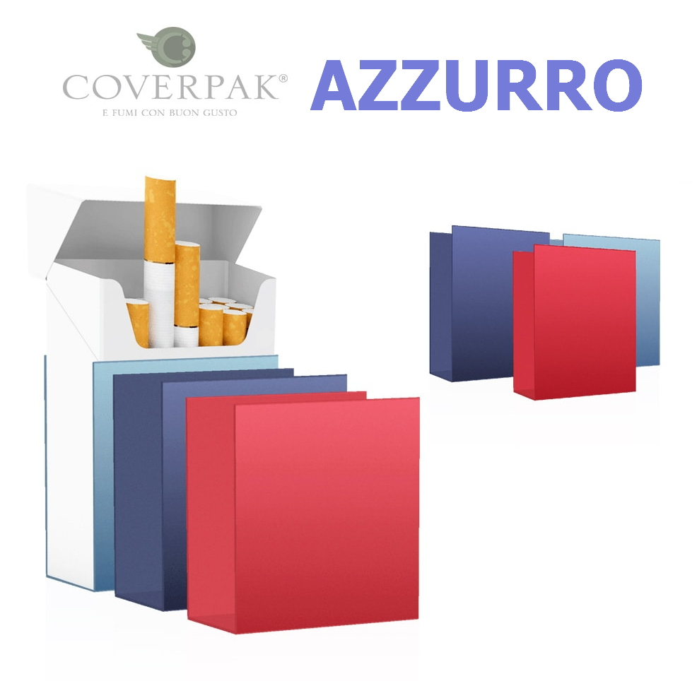PORTAPACCHETTO COVERPAK IN PVC RIGIDA CLIP 1pz AZZURRO