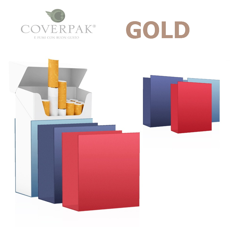 PORTAPACCHETTO COVERPAK IN PVC RIGIDA CLIP 1pz GOLD