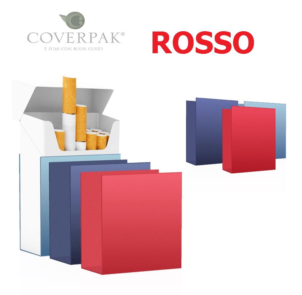 PORTAPACCHETTO COVERPAK IN PVC RIGIDA CLIP 1pz ROSSO