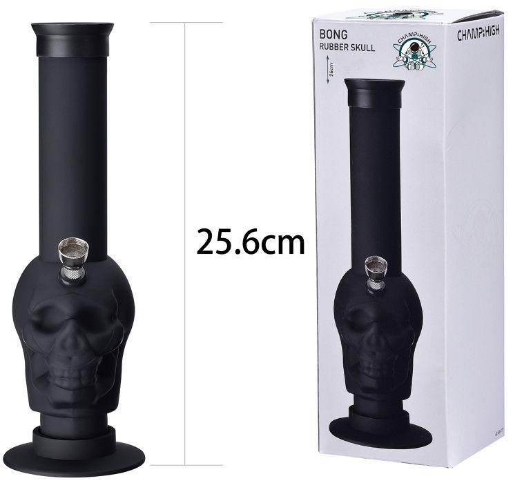 NARGHILe' BONG IN PVC 25cm 40mm - 1pz SKULL RUBBER