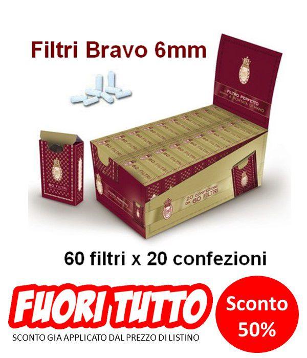 FILTRI BRAVO 20x60pz 6mm ASTUCCIO (Acc. 4,32)-C00029011