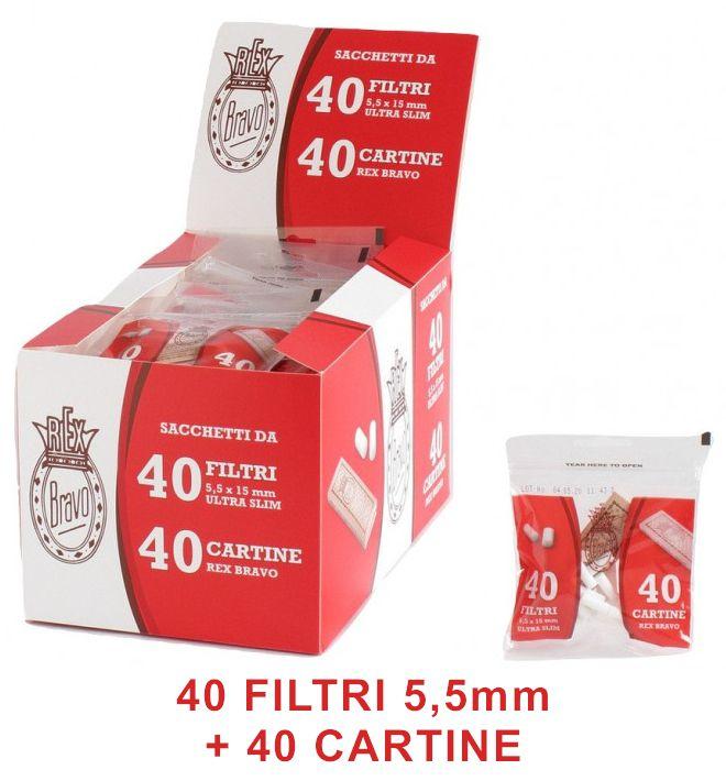 FILTRI BRAVO ULTRA SLIM 5,5mm 40pz-40filtri+40cartine (Acc. 11,52)-PROV-D02051032
