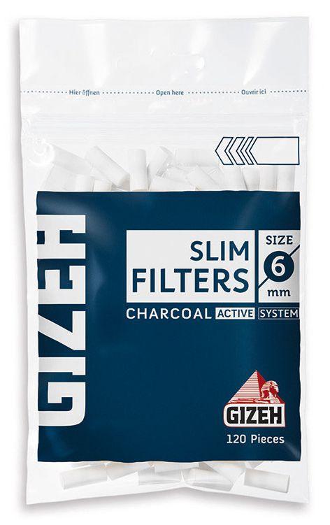 FILTRI ACETATO GIZEH 6mm Bustina 20x120pz Carbone attivo (Acc. 8,64)-PROV-C00052007