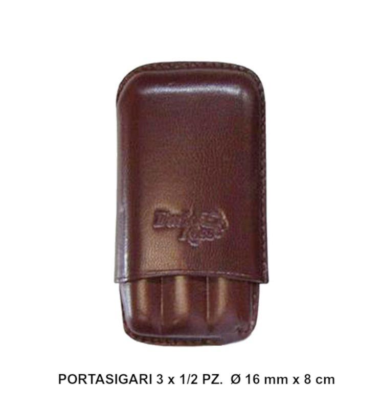PORTASIGARO x3 MEZZI TOSCANI DAVID ROSS 1pz MARRONE IN PELLE fatto a mano
