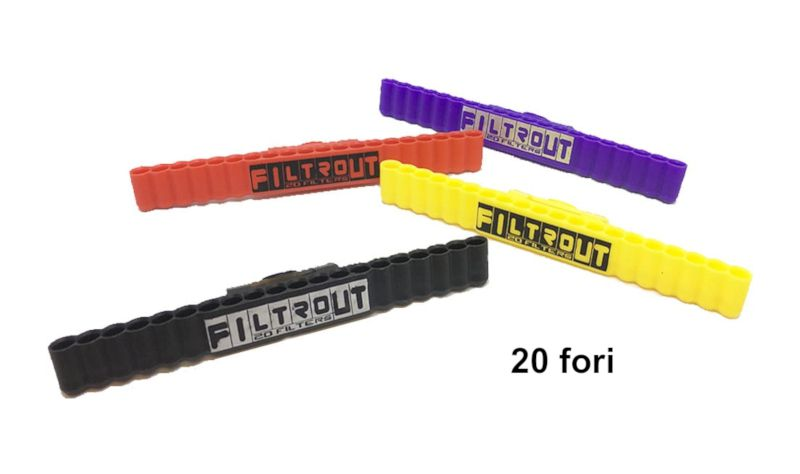 PORTA FILTRI SLIM /ULTRASLIM FILTROUT 1pz IN PVC COLORI ASSORTITI 20 fori