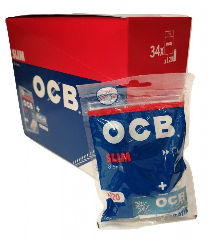 FILTRI OCB SLIM 6mm Bustina 34x120pz+CARTINA BLU XPERT- (Acc. 20,80)-PROV-D00204109