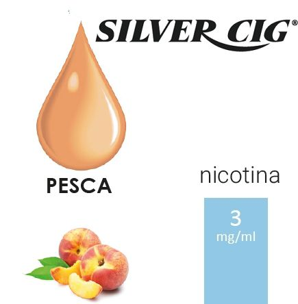 SILVER CIG E-LIQUID PESCA 10ml 3mg/ml - PLN006075