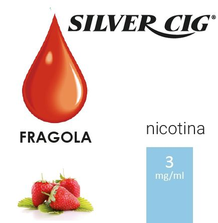 SILVER CIG E-LIQUID FRAGOLA 10ml 3mg/ml - PLN006519