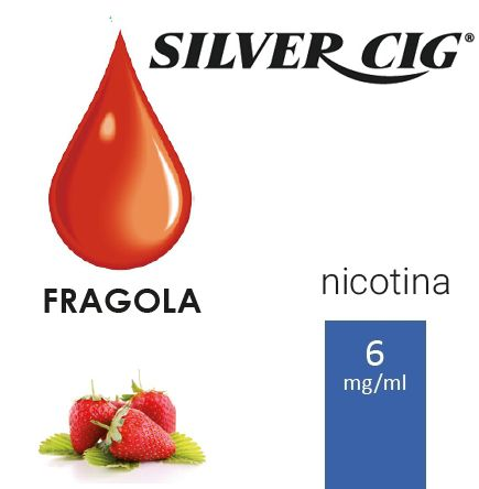 SILVER CIG E-LIQUID FRAGOLA 10ml 6mg/ml - PLN006043