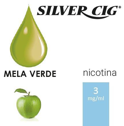 SILVER CIG E-LIQUID MELA VERDE 10ml 3mg/ml - PLN006525