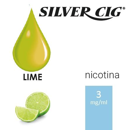 SILVER CIG E-LIQUID LIME 10ml 3mg/ml - PLN006528