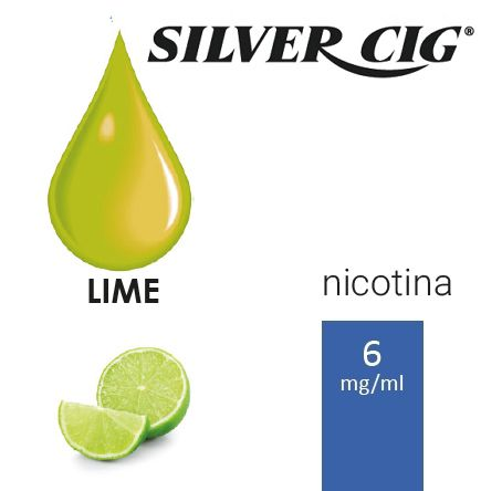 SILVER CIG E-LIQUID LIME 10ml 6mg/ml - PLN006040