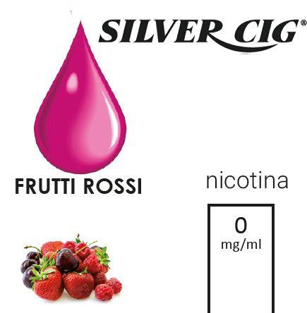 SILVER CIG E-LIQUID FRUTTI ROSSI 10ml 0mg/ml - PL0009651