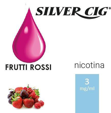 SILVER CIG E-LIQUID FRUTTI ROSSI 10ml 3mg/ml - PLN006049