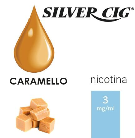 SILVER CIG E-LIQUID CARAMELLO 10ml 3mg/ml - PLN006526