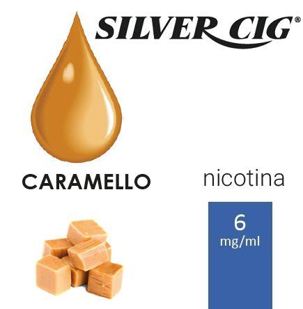 SILVER CIG E-LIQUID CARAMELLO 10ml 6mg/ml - PLN006034