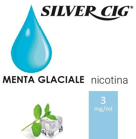 SILVER CIG E-LIQUID MENTA GLACIALE 10ml 3mg/ml - PLN006517