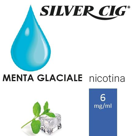 SILVER CIG E-LIQUID MENTA GLACIALE 10ml 6mg/ml - PLN006068