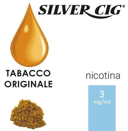 SILVER CIG E-LIQUID TABACCO ORIGINAL 10ml 3mg/ml - PLN006523