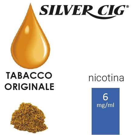 SILVER CIG E-LIQUID TABACCO ORIGINAL 10ml 6mg/ml - PLN006060