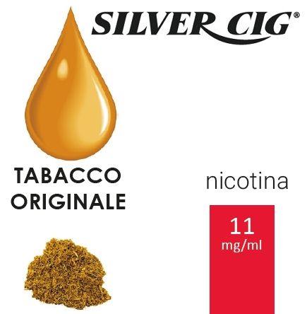 SILVER CIG E-LIQUID TABACCO ORIGINAL 10ml 11mg/ml - PLN006058