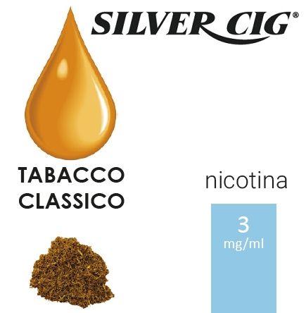 SILVER CIG E-LIQUID TABACCO CLASSICO 10ml 3mg/ml - PLN006520
