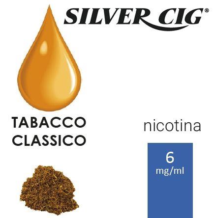 SILVER CIG E-LIQUID TABACCO CLASSICO 10ml 6mg/ml - PLN006063