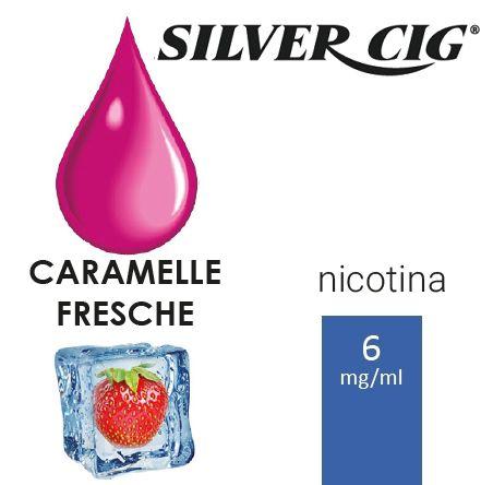 SILVER CIG E-LIQUID CARAMELLE FRESCHE 10ml 6mg/ml - PLN006045