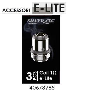 RESISTENZA COIL E-LITE RICAMBIO 1x3pz SILVER CIG