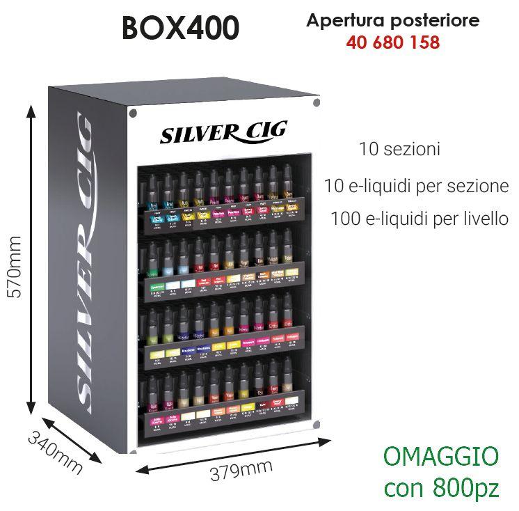LIQUIDI ESPOSITORE per 400pz VUOTO - APERTURA POSTERIORE  (OMAGGIO/800)