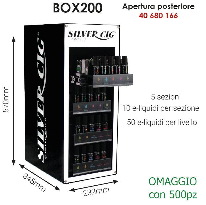 LIQUIDI ESPOSITORE per 200pz VUOTO - APERTURA POSTERIORE (OMAGGIO/500)