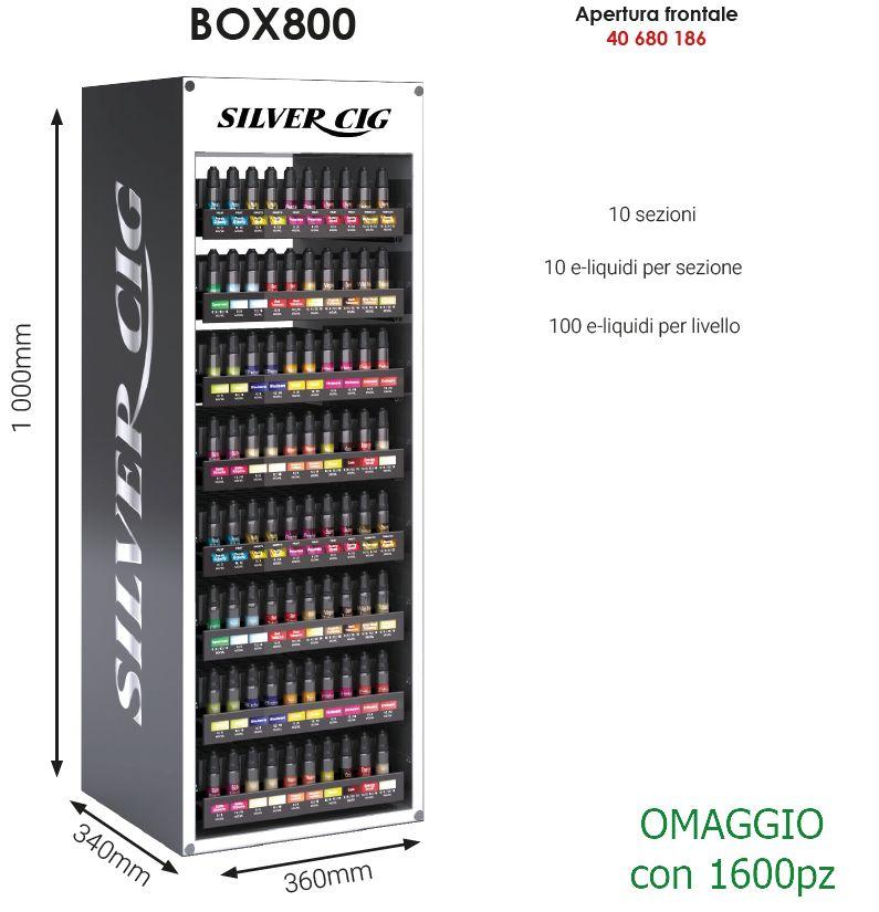 ESPOSITORE LIQUIDI per 800pz VUOTO APERTURA FRONTALE  (OMAGGIO/1600)