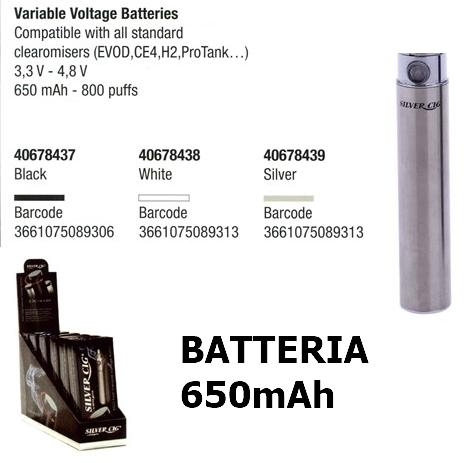 BATTERIA SILVER CIG 3.2V-4.8V CROMO 1pz