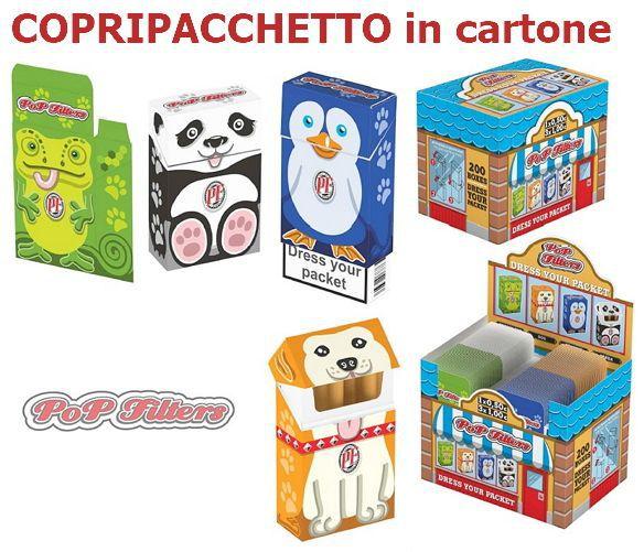 PORTAPACCHETTO POP FILTERS DRESS ATELIER 200pz IN CARTONCINO
