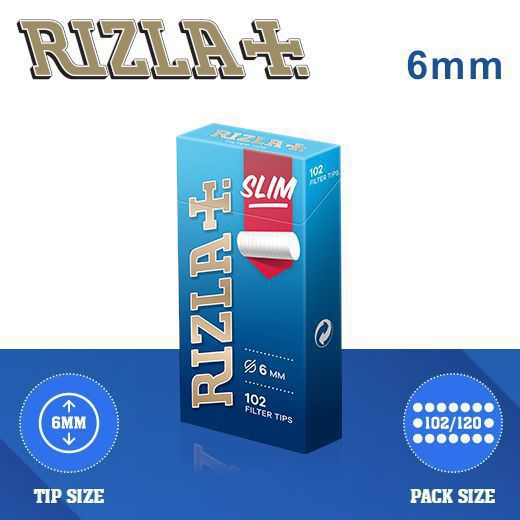FILTRI RIZLA SLIM 6mm 20x102pz ASTUCCIO POPPATIPS - PROV-C00003006 (Acc.7,34)