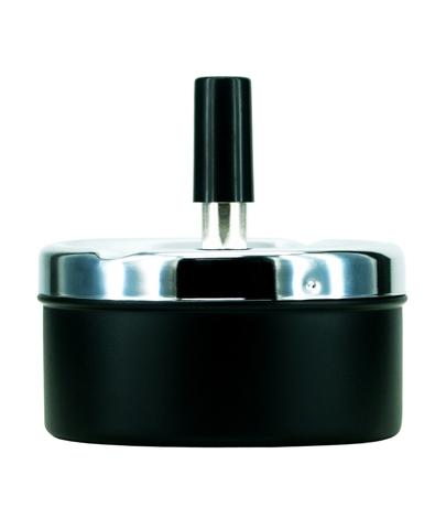 PORTACENERE DA TAVOLO ATOMIC METAL 1pz NERO 9cm CLASSIC
