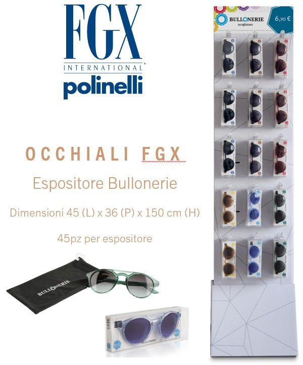 OCCHIALI BULLONERIE SOLE EXPO 45pz FGX SUNGLASSES - EXPO DA TERRA