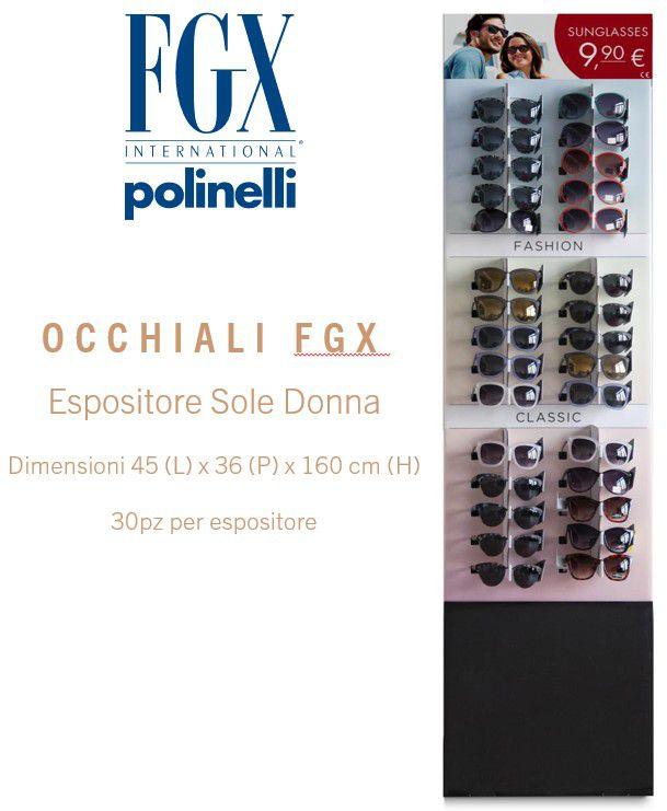 OCCHIALI FGX SOLE EXPO DONNA 30pz SUNGLASSES - EXPO DA TERRA