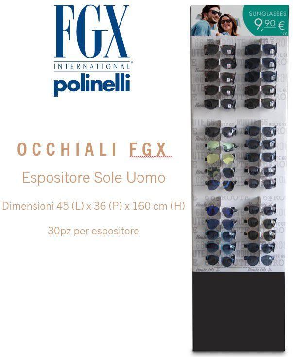 OCCHIALI FGX SOLE EXPO UOMO 30pz SUNGLASSES - EXPO DA TERRA