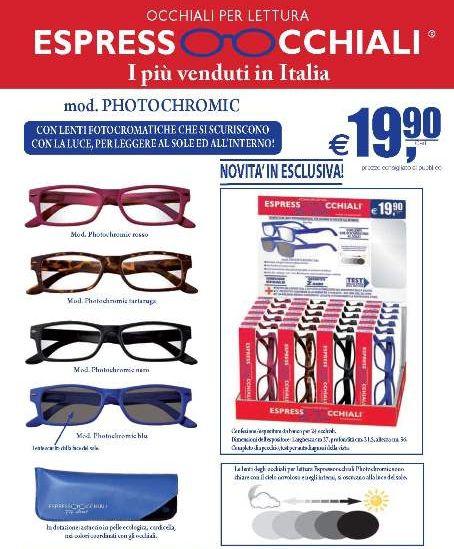 OCCHIALI GRAD. PHOTOCROMATIC PVC.(da 1.00 a 3.50) 24pz
