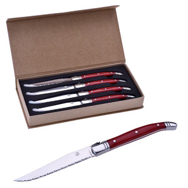 LAGUIOLE COLTELLI 4 PCS RED HANDLE KNIVES - LG2020