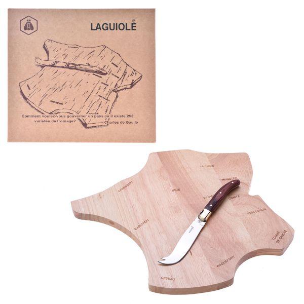 LAGUIOLE COLTELLI CHEESE BOARD+KNIFE CURAN 1pz - LG2020