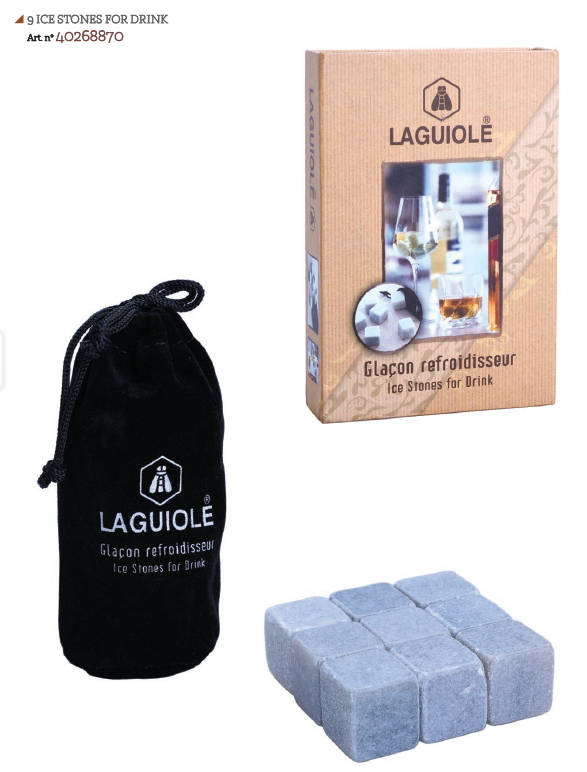 LAGUIOLE ICE STONES FOR DRINK 1x 9pz - LG2020