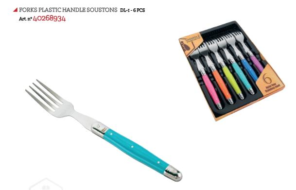 LAGUIOLE FORCHETTE PLASTIC HANDLE  SOUSTONS  1x6pz - LG2020