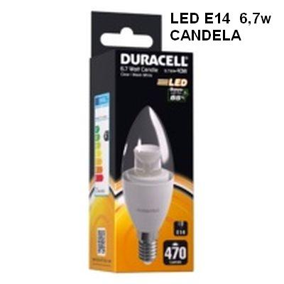 LAMPADINE DURACELL LED E14  6,7w   1pz  CANDELA