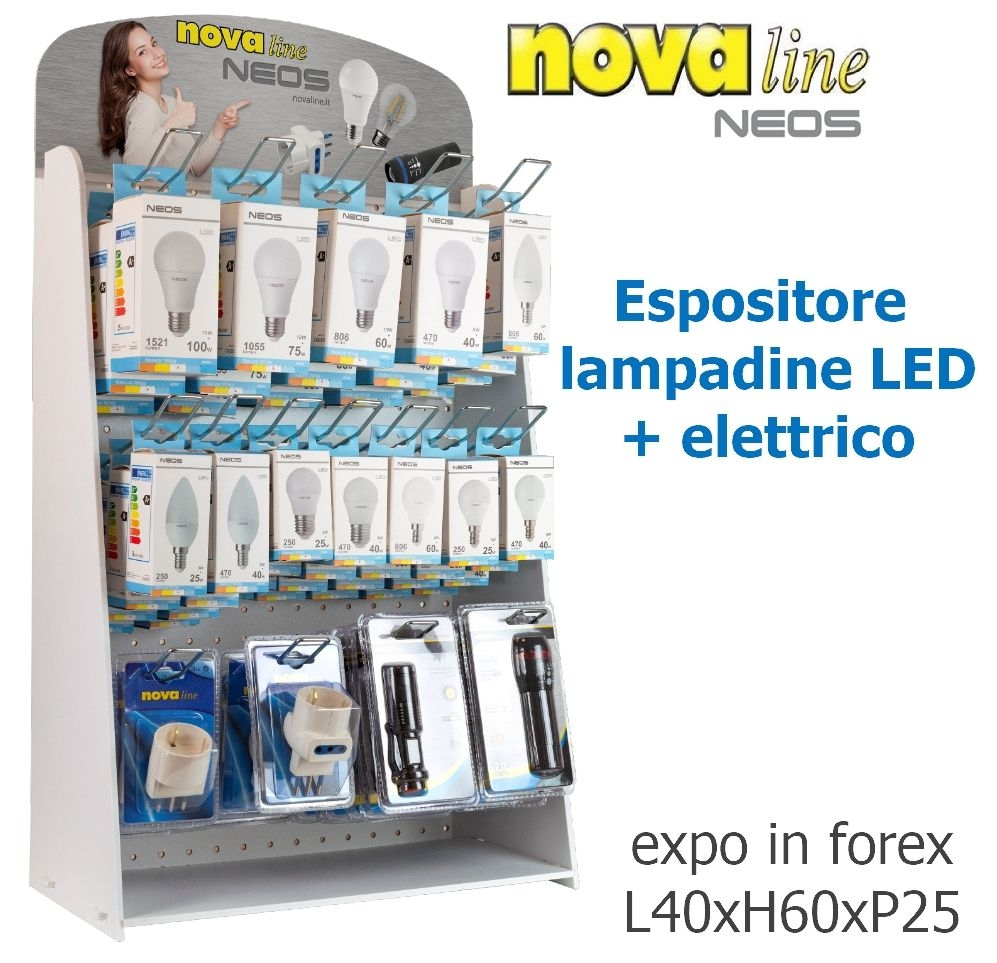 LAMPADINE LED + ELETTRICO PROMO 178pz ASS. EXPO DA BANCO - NOVALINE