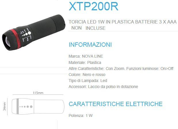 TROCIA LED 1W in plastica 1pz - NOVALINE (batterie 3 x AAA non incluse)