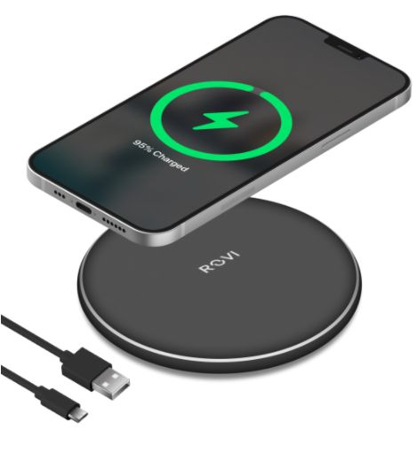 CARICABATTERIE WIRELESS CHARGER 10w WXC-01 1pz NERO BLISTER - ROVI