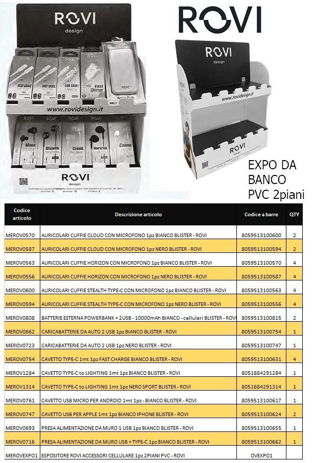 PROMO EXPO DA BANCO 35pz ENERGY+AUDIO ASSORTITI - ROVI