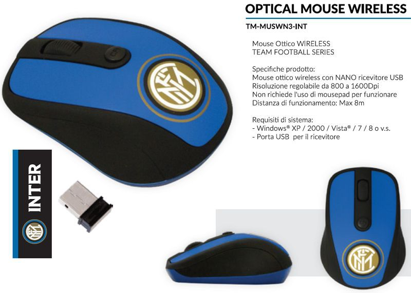MOUSE WIRELESS 1pz INTER - TECHMADE